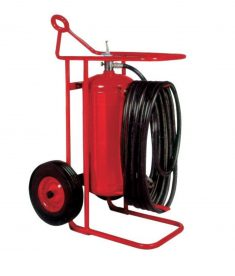 Buckeye Model OS A-150-PT 125 lb. ABC Dry Chemical Agent Pressure Transfer Wheeled Fire Distinguisher (31490)