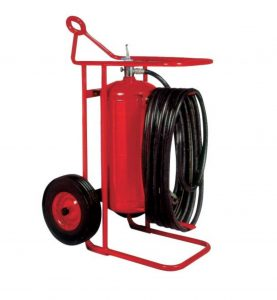Buckeye Model OS A-150-RG 125 lb. ABC Dry Chemical Agent Regulated Pressure Wheeled Fire Extinguisher (31460)