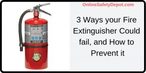 3 Ways your Fire Extinguisher Could fail, and How to Prevent it