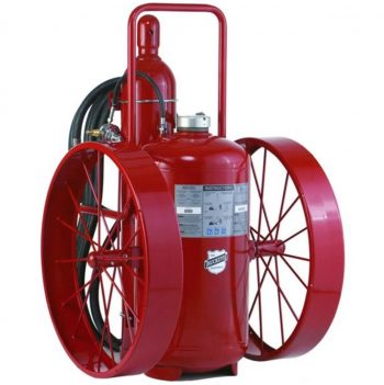 Buckeye Model OS A-350-PT 300 lb. ABC Dry Chemical Agent Pressure Transfer Wheeled Fire Extinguisher (32180)