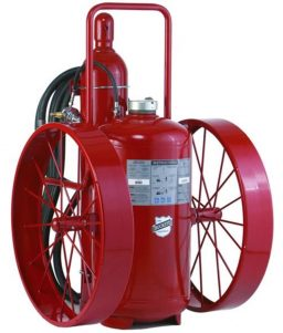 Buckeye Offshore Wheeled Fire Extinguisher Model OS A-350-RG 300 lb. ABC Dry Chemical Agent Regulated Pressure (32170)