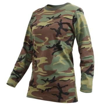 1a85a69d Rothco Long Sleeve Long Length Camo T-Shirt for Women - Industrial ...
