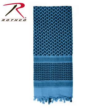 Rothco Lightweight 100% Cotton Shemagh Tactical Desert Scarf Blue/Black