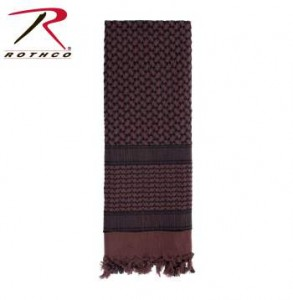 Rothco Lightweight 100% Cotton Shemagh Tactical Desert Scarf Brown