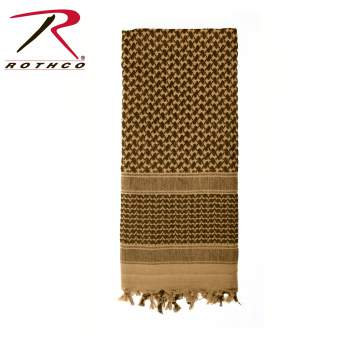 Rothco Lightweight 100% Cotton Shemagh Tactical Desert Scarf Coyote Brown