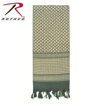 Rothco Lightweight 100% Cotton Shemagh Tactical Desert Scarf Foliage Green