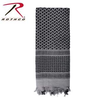 Rothco Lightweight 100% Cotton Shemagh Tactical Desert Scarf Grey
