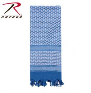 Rothco Lightweight 100% Cotton Shemagh Tactical Desert Scarf Blue/White