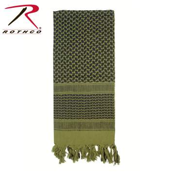 Rothco Lightweight 100% Cotton Shemagh Tactical Desert Scarf Olive Drab