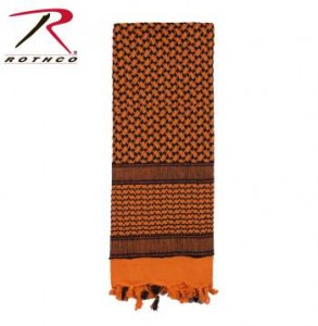 Rothco Lightweight 100% Cotton Shemagh Tactical Desert Scarf Orange