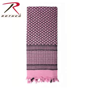 Rothco Lightweight 100% Cotton Shemagh Tactical Desert Scarf Pink