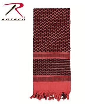 Rothco Lightweight 100% Cotton Shemagh Tactical Desert Scarf Red/Black