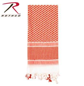 Rothco Lightweight 100% Cotton Shemagh Tactical Desert Scarf Red/White