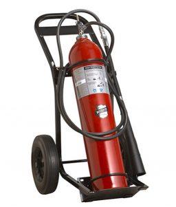 50 lb. Carbon Dioxide Wheeled Fire Extinguisher