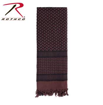Rothco 100% Cotton Shemagh Tactical Desert Scarf Brown