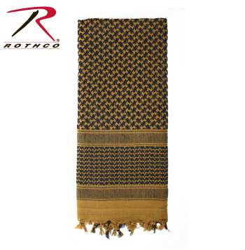 Rothco 100% Cotton Shemagh Tactical Desert Scarf Coyote Brown