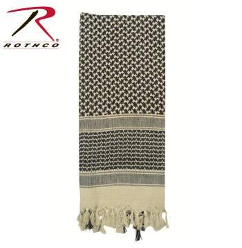 Rothco Lightweight 100% Cotton Shemagh Tactical Desert Scarf Tan