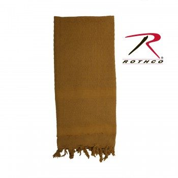 Rothco 100% Cotton Solid Shemaghs Tactical Desert Scarf Coyote Brown