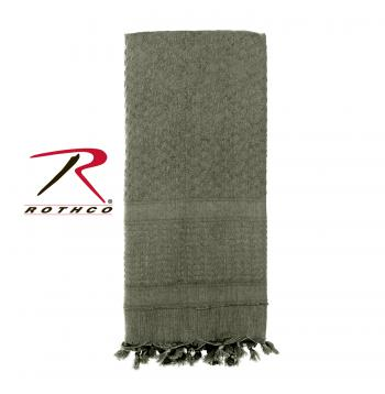 Rothco 100% Cotton Solid Shemaghs Tactical Desert Scarf Foliage Green