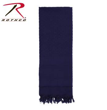 Rothco 100% Cotton Solid Shemaghs Tactical Desert Scarf Navy Blue