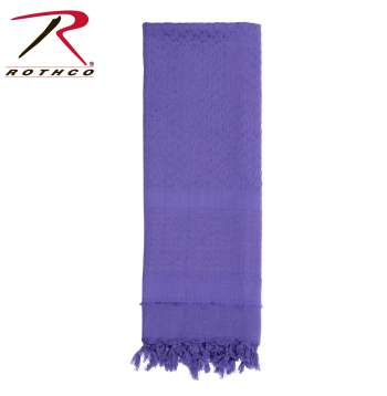 Rothco 100% Cotton Solid Shemaghs Tactical Desert Scarf Purple