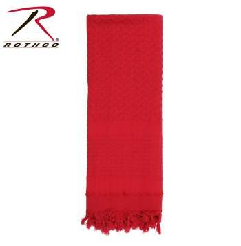 Rothco 100% Cotton Solid Shemaghs Tactical Desert Scarf Red