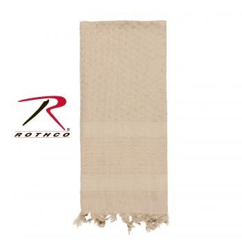 Rothco 100% Cotton Solid Shemaghs Tactical Desert Scarf Tan