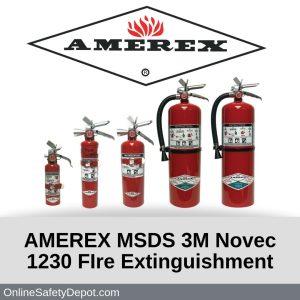 AMEREX MSDS 3M Novec 1230 FIre Extinguishment