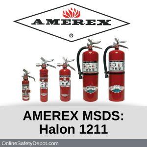 AMEREX MSDS Halon 1211