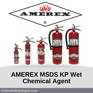 AMEREX MSDS KP Wet Chemical Agent