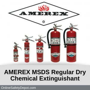 AMEREX MSDS Regular Dry Chemical Extinguishant