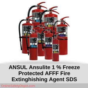 ANSUL Ansulite 1 Percent Freeze Protected AFFF Fire Extinghishing Agent