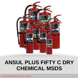 ANSUL PLUS FIFTY C DRY CHEMICAL MSDS