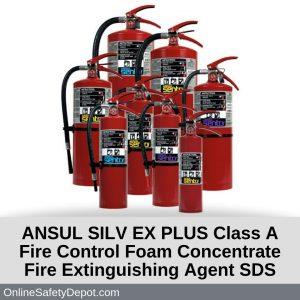 ANSUL SILV EX PLUS Class A Fire Control Foam Concentrate Fire Extinguishing Agent