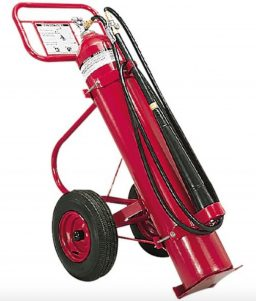 Amerex 50 lb Carbon Dioxide (CO2) Wheeled Fire Extinguisher (AX333)