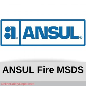 Ansul Fire Chemical MSDS Information