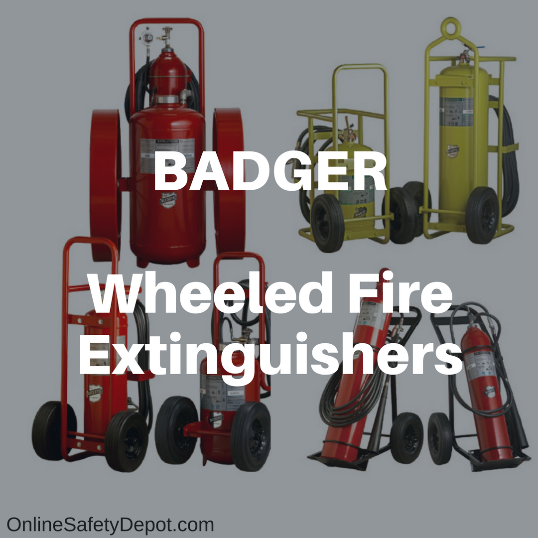 OnlineSafetyDepot.com expands its line of Badger Wheeled Fire Extinguishers