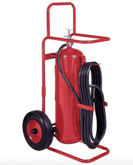 Badger™ 50 lb Wheeled Stored Pressure Purple K Extinguisher, 25' Hose