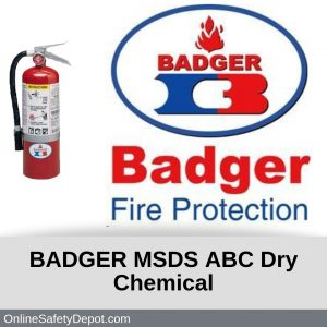 Badger ABC Dry Chemical MSDS