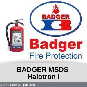 Badger MSDS HalotronI