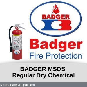 Badger MSDS Regular Dry Chemical