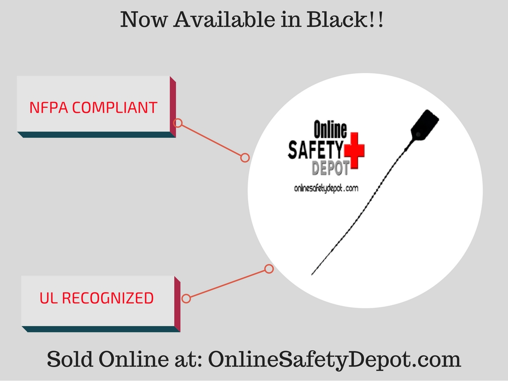 NFPA Compliant Fire Extinguisher Tamper Seals Now Available in Black Color