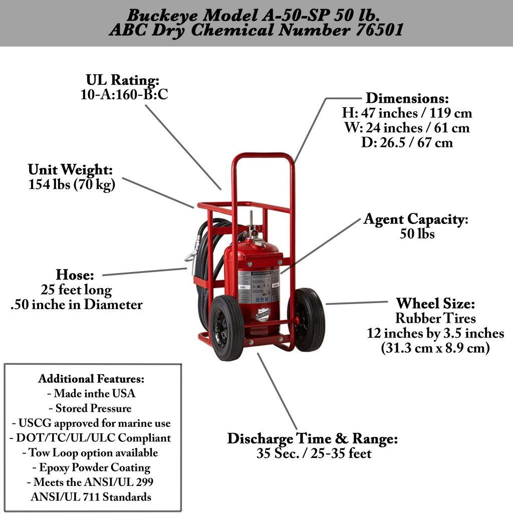Buckeye A-50-SP Wheeled Fire Extinguisher