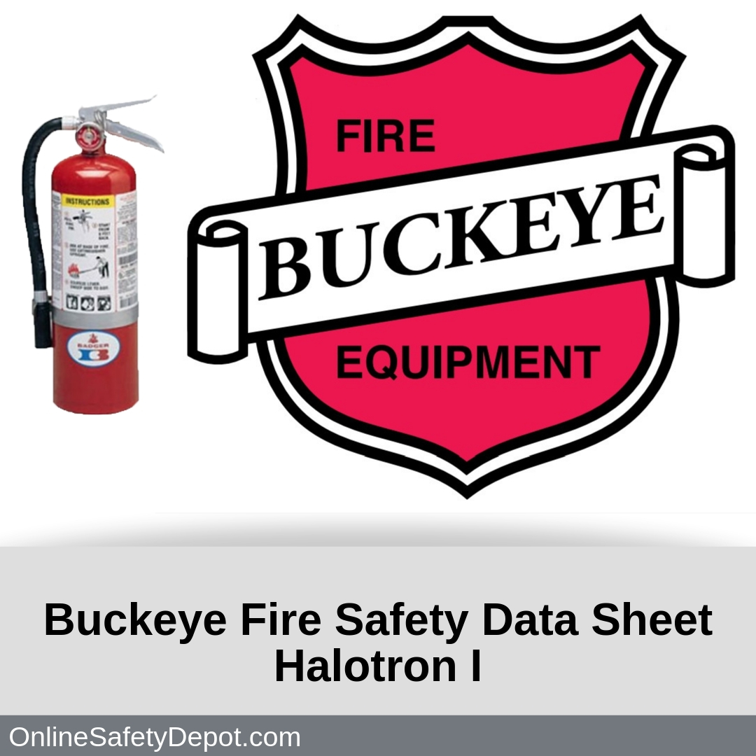 Buckeye Fire Safety Data Sheet Halotron I