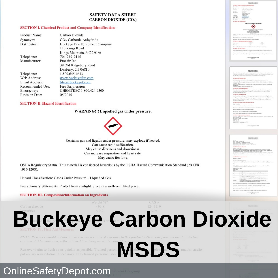 Buckeye MSDS Carbon Dioxide