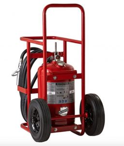 Buckeye Model A-150-RG 125 lb. ABC Dry Chemical Agent Regulated Pressure Wheeled Fire Extinguisher (31120)