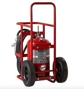 Buckeye Model A-150-SP 125 lb. ABC Dry Chemical Agent Stored Pressure Wheeled Fire Extinguisher (30110)