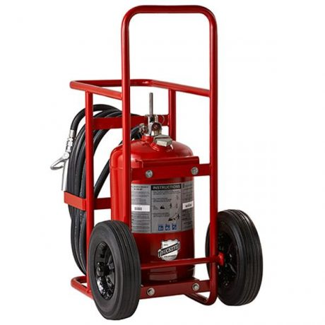 Buckeye Model A-350-PT-R 300 lb. ABC Dry Chemical Agent Pressure Transfer Wheeled Fire Extinguisher (32130)