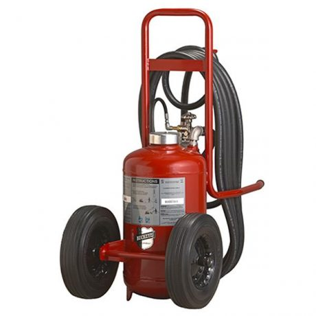 Buckeye Model K-150-PT 125 lb. Purple K Dry Chemical Agent Pressure Transfer Wheeled Fire Extinguisher (31310)