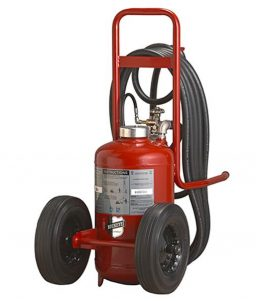 Buckeye Model K-350-PT-R 300 lb. Purple K Dry Chemical Agent Pressure Transfer Wheeled Fire Extinguisher (32330)